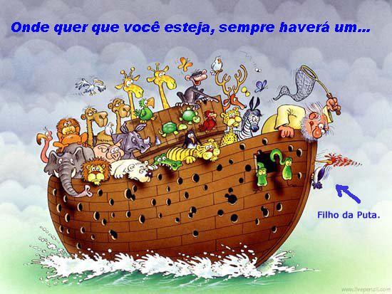 E na arca de Noé...